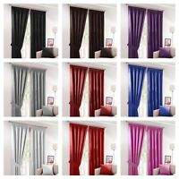 PAIR THERMAL INSULATING LIGHT BLACKOUT PENCIL PLEAT TAPE TOP READY-MADE CURTAINS
