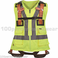 Delta Plus Safety Fall Arrest HAR12GIL Harness with High Visibility Yellow Vest