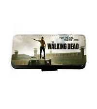 Walking Dead Phone Case Dont Open Leather Wallet iPhone Samsung HTC Xperia LG Samsung Galaxy S6 2 Quote