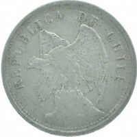 COIN / CHILE / 20 CENTAVOS 1925    #WT16575