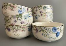Williams Sonoma Floral Meadow Wreath Bowls