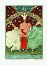 Alberto Martini, Tre donne in giro. Grande tavola sciolta a col. (25 x 35 cm),