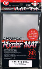KMC 80 MATTE MAGIC MTG CARD BARRIER SLEEVES DECK PROTECTORS - HYPER MAT CLEAR