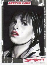 SEAN PENCE 2008 SKETCH CARD OF EVA MENDEZ FROM INK WORKS THE SPIRIT MOVIE 1/1