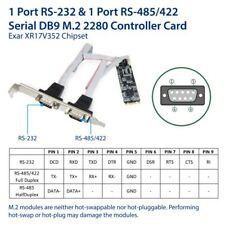 IO Crest RS-232 + RS-422/485 DB9 Serial M.2 B+M Key Controller Card
