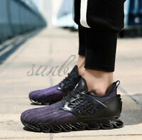 Men's Athletic-Trainers Sneakers Running-Triples Fly-knitted Casual Sports-Shoes