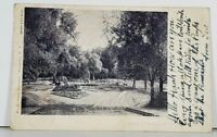 Wellsville NY Park Entrance 1911 udb Postcard J14