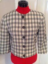 stylish JAEGER checked jacket, coat size 8, 3/4 length sleeve  rrp £750 vgc