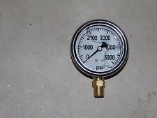 "2.5"" Pressure Gauge, Glycern Filled Stainless 5000 PSI"