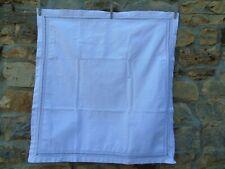 French vintage white cotton  linen euro sham pillow case ledderwork