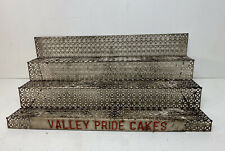 Vintage Store Display 3-Tier Rack Countertop Snacks Cakes Metal Valley Pride