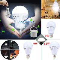 US E27 Emergency LED Light Bulb Rechargeable Intelligent Lamp Magic Light Bulb