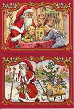 Package of 2 Santa Advent Calendars with Envelopes from Denmark #900030S
