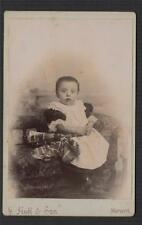 G Huff & Son, Maryport  Photographer baby  antique cabinet photograph q1