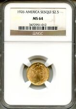1926 Sesqui $2.50 NGC MS64 ~ Commemorative Gold (3472951-012)