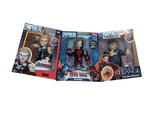 """Marvel Metals Diecast 4"""" Figures Select Your Figure New in Box Free UK Postage"""