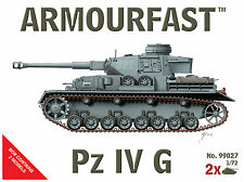 NEW Armourfast 1/72 Panzer IV G  Model Kit - Contains 2 Tanks (99027)