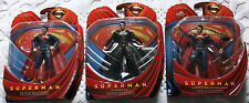 SUPERMAN Man of steel. Movie Masters, Adult collector. Set of 3 figures.