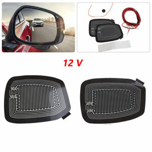 Quick Warm 12V Car Rearview Side Mirror Glass Heater Heated Defogger Pad Mat