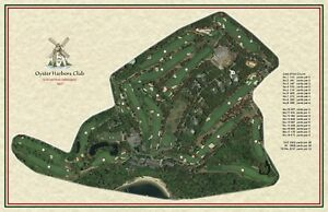 Oyster Harbors Club 1927 Donald Ross Vintage Golf Course Maps print