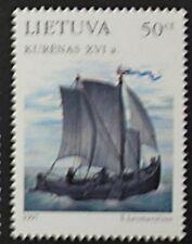 Baltic sailing ships stamp, Kurshes, 1997, Lithuania, SG ref: 645, MNH