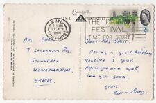 Rhyl 27 Jul 1964 Postmark The Dairy Festival Time For Sport Slogan 836b