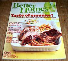 Better Homes and Gardens Magazine June 2011 Taste of Summer Food Recipes
