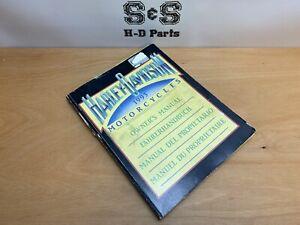 Genuine Harley-Davidson OWNERS MANUAL 1993 Models 4 Languages 99963-93