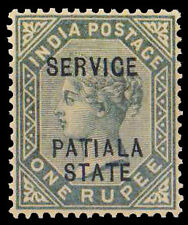 PATIALA CONVENTION STATE 1900-1 Re. Queen Victoria-MNH-Stamp of India-1 Value