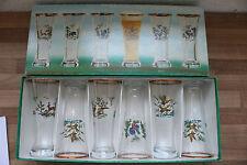 (Art.:I-1613) Schönes Glas-Set 6-tlg. mit Jagdmotiv