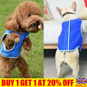 Dog Puppy Reusable Cool Vest Jacket Coat Summer Clothes Adjustable Outdoor YE