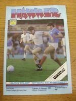 21/02/1984 West Ham United v Watford  (creased corner). Footy Progs/Bobfrankande