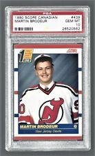 1990 Score Canadian Martin Brodeur Devils #439 Rookie PSA 10 #26520562