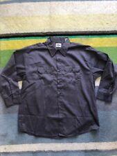 Vintage Wrangler Blue Bell Cotton Twill Grey work-shirt size 17 short 60s-70s