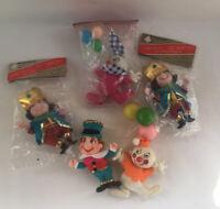Vintage Bradfords Commodore Christmas Decorations Ornaments Kings Clowns 3 NIP