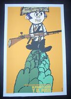 CUBA Silk-screen Poster by BACHS for Cuban Movie ELPIDIO VALDES AND THE RIFLE