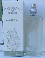 Naturals by Time Out White Tea Perfume Cologne Spray 3.4 fl. oz Bottle NEW Rare