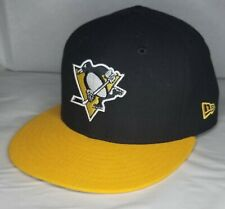 New ListingPittsburgh Penguins Black & Gold New Era 59Fifty Fitted Hat Cap - 7 3/4 - Euc