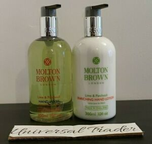 Molton Brown Lime & Patchouli Hand Wash 300ml + Hand Lotion 300ml Duo
