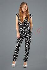 Womens Ladies Party Celeb Playsuit Romper Jumpsuit Dress Black New UK Size 10 12