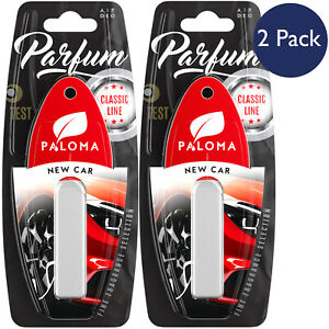 Paloma Air Freshener New Car Scent Hanging Fragrance Clean Bright Perfume 2 Pack