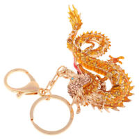 Dragon Keyring Rhinestone Crystal Charm Pendant Car Key Bag Chain Decoration