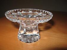 VGC Vintage Crystal Clear Cut Glass Footed Detailed Candle Holder Stunning