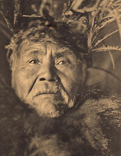 "EDWARD CURTIS Indian Tribe ""THE WHALER""  Native American Photo Book Print"