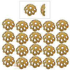 (20) 22k Gold Plated 5mm Fancy Filigree Bead Cap Jewelry Necklace
