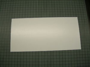 """LOT OF 10 WHITE POLYSTYRENE LIGHT DIFFUSING PLASTIC SHEET .010"""" THICK 6"""" X 12"""""""