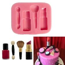 Lipstick Makeup Silicone Fondant Cake Pastry Candy Chocolate Baking Mold Mould