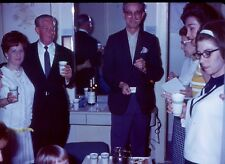 vintage color slide Dynachrome slosh party-smoking-drinking-dixie cups ! -1968