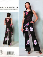VOGUE SEWING PATTERN 1539 MISSES 6-14 ASSYMETRICAL TUNIC & FLARED LEG JUMPSUIT