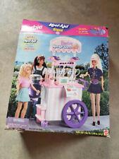 Vintage 1997 BARBIE KOOL AID STAND PLAYSET Mattel Wheeled Push Cart NIB (Read)